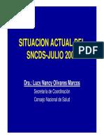 Situacion Actual Del Sncds - Julio 2006 II Taller