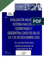 Situacion Del SNCDS 2005