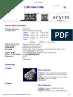Albite Mineral Data1