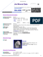 Alamosite Mineral Data1