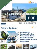 PTBA Presentation 9M2015