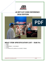 RFP Cut Code HAM Reference - Current Edition