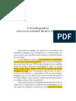 A Sociolinguística- Uma Nova Maneira de Ler o Mundo