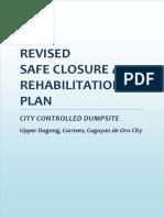 Safe Closure and Rehabilitation Plan of CDO City - Controlled Dumpsite