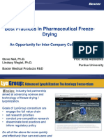 Best Practices in Pharmaceutical Freeze- Drying