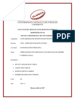 Monografía de Cajas rurales de Ahorrro y crédito CRAC