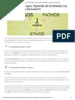 El Arte de Presentar – Ethos, Pathos, Logos_ Aprende de Aristóteles Los Tres Pilares de La Persuasión