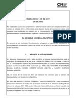 Resolucion 1425 CNE