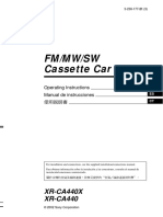 Sony- FM/MW/SW Reproductor de cassette - Xrca440x Es