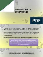 La Función de Operaciones (1)