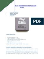 Microprocesadores y su administracion de la memoria