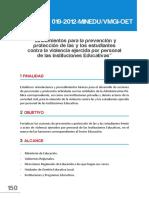2. LINEAMINETOS PARA PREVENCIÓN  DIRECTIVA N°019-2012-MINEDU-VMGI-OET