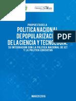 PoliticaNacionaldePopularizaciondeCyT