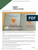 Ini Langkah-Langkah Pemecahan Sertifikat Tanah _ Investasi Dan Pembiayaan _ Rumah