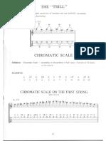 Escala Cromatica en La Primer Cuerda
