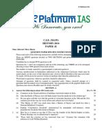 C.S.E. (MAIN) 2016 History Paper 2 R Platinum