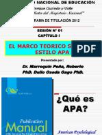 Sesion-1-El Marco Teorico Segun El Estilo Apa