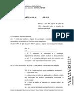 Projeto Lei Paralegal