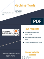 Kirloskar Enterprise Lathe Machine Spare Parts - Dundhi Machine Tools