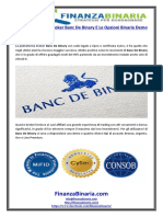 Le Recensioni Sul Broker Banc de Binary E Le Opzioni Binarie Demo