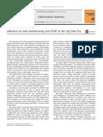 Advances in Data Warehousing and OLAP in the Big Data Era