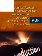 Effects of Topical Heparinization of the burn wound ; Pilot study