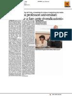 Il Ministro ai professori universitari