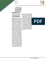 Sigillo di Ateneo a Carlo Rovelli per i suoi studi sulla gravità - Il Corriere Adriatico dell'11 luglio 2017