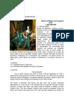 Análisis Obra Rococo Retrato de Madame de Pompadour (1756)