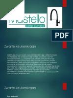 Mastello - Zwarte Keukenkraan