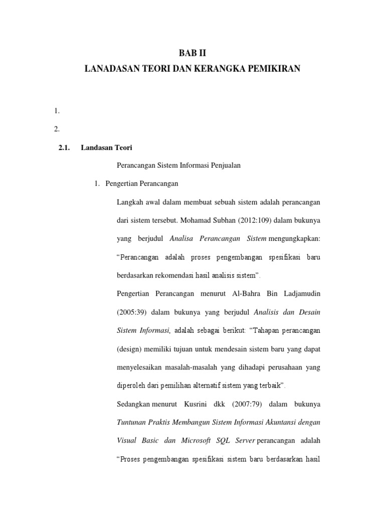 Bab ii landasan teori sistem informasi penjualan ccuart Image collections