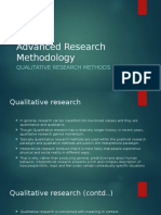 Advanced Research Methodology 2