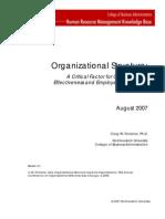 Organizational Structure White Paper v7b