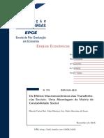 Os Efeitos Macroeconomicos Das Transferencias Sociais