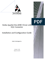 Simba JDBC Driver for Hive Install Guide