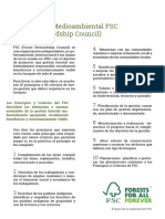 Certificacion Medioambiental FSC
