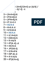 1 to 50 numbers with four 4's.pdf