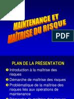 125 - Maintenance Et Maîtrise Du Risque