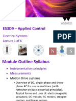 Es3d9 Applied Control - Electrical Machines - Lecture 1 of 6 d13