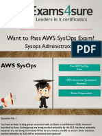 AWS SysOps Braindumps with 100% Passing Guarantee