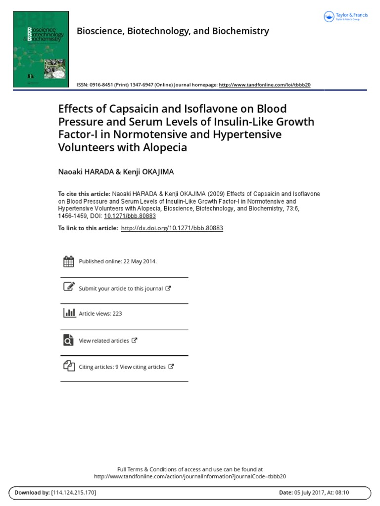 Effects of Capsaicin and Isoflavone on Blood Pressure and