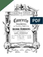 Romberg, Bernhard - Cello Concerto No.10, Op.75 (Pf Reduction and Solo Cello Part)