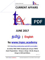 JUNE - TNPSC Current Affairs in English - 2017 - Www.tnpsc.academy