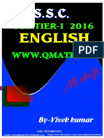 SSC CGL 2016 ENGLISH Tier-1 Questions