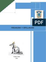 Monografia Fresadora y Cepilladora