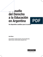 El Desafío del Derecho a la Educación en Argentina