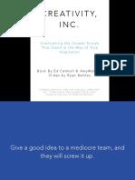 Creativity Inc Slides