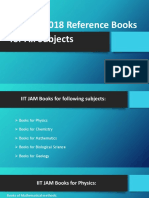 IIT JAM 2018 Reference Books for All Subjects