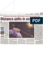 Units of Distance in Astronomy