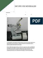 Microscoscopio de Minerales Opacos